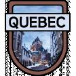 Quebec Word Art Crest