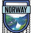 Norway Word Art Crest