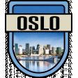 Oslo Word Art Crest