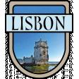 Lisbon Word Art Crest
