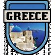 Greece Word Art Crest