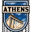Athens Word Art Crest