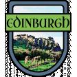 Edinburgh Word Art Crest