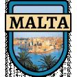 Malta Word Art Crest