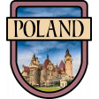 Poland Word Art Crest