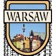 Warsaw Word Art Crest