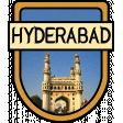 Hyderabad Word Art Crest