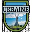 Ukraine Word Art Crest
