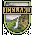 Iceland Word Art Crest