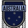 Australia Word Art Crest