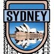 Sydney Word Art Crest
