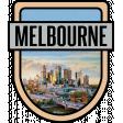 Melbourne Word Art Crest