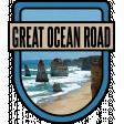Great Ocean Road Word Art Crest