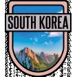 South Korea Word Art Crest
