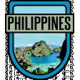 Philippines Word Art Crest