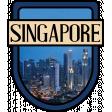 Singapore Word Art Crest