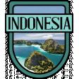 Indonesia Word Art Crest