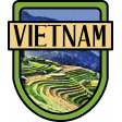 Vietnam Word Art Crest