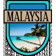 Malaysia Word Art Crest