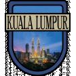 Kuala Lumpur Word Art Crest