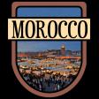 Morocco Word Art Crest