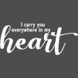 Carry You Word Art White Endures