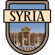 Syria Word Art Crest