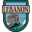 Lebanon Word Art Crest