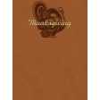 Turkey GThanks Journalling Card 3x4