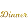 Gold Dinner GThanks Word Art