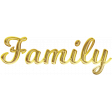 Gold Family GThanks Word Art