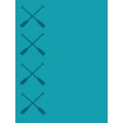 Turquoise Canoe Paddles NorthC Journal Card 3x4