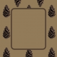 Brown Pinecone NorthC Journal Card 4x4
