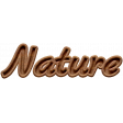 Wood Nature NorthC Word Art