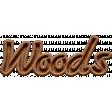 Woods NorthC Wood Word Art