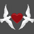 Doves with Heart Ann Graphic