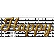 50th Anniversary Gold Happy Word Art