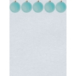 Blue Ornament SNoel Journal Card 4X3
