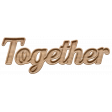 Together Wood Soulmates Word Art