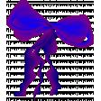 Big Purple Organza Double Bow Element