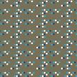 Offset Blue & White Polka Dots on Soft Green Paper