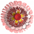 Cool Pink Layered Paper Flower