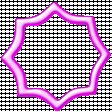 Hot Pink Octagonal Frame
