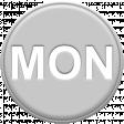 Grey Pleather Weekday - Mon
