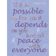 Live at Peace Pocket Card