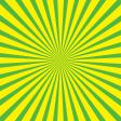 Yellow and Green Starburst