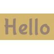 Hello word art