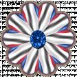 Patriotic Kaleidoscope - Flower 1