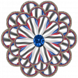 Patriotic Kaleidoscope - Flower 2