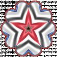 Patriotic Kaleidoscope - Flower 3 with Star